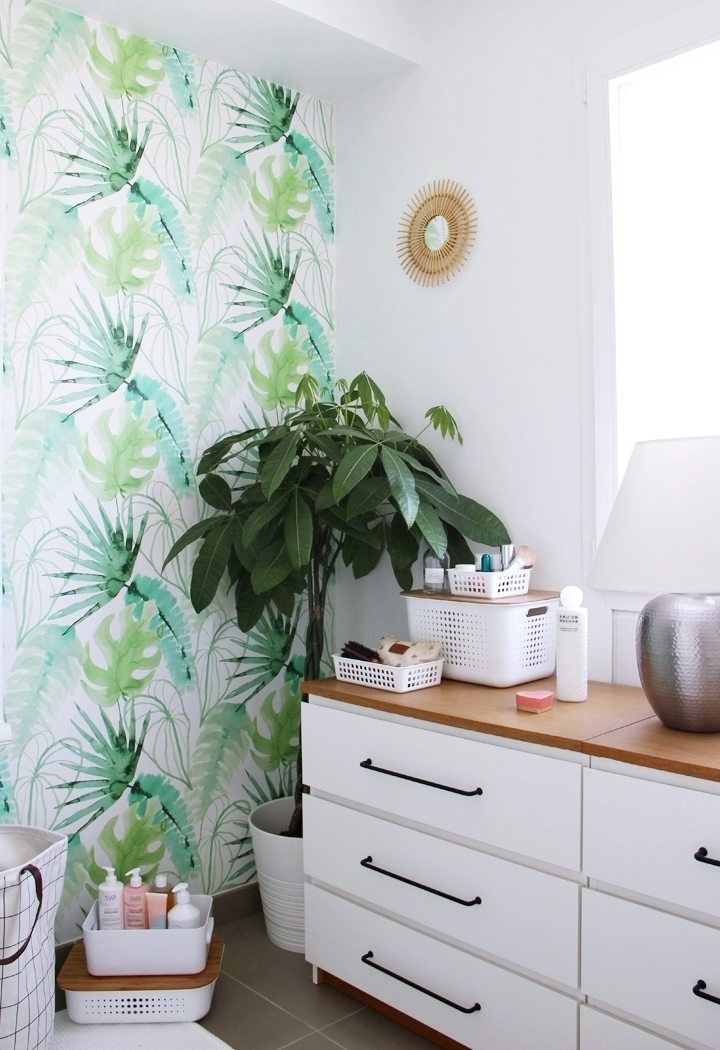 home notre salle de bain tropicale la souris coquette blog mode maman voyages d coration. Black Bedroom Furniture Sets. Home Design Ideas
